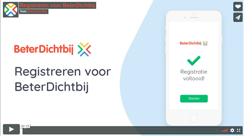 Video registreren voor BeterDichtbij